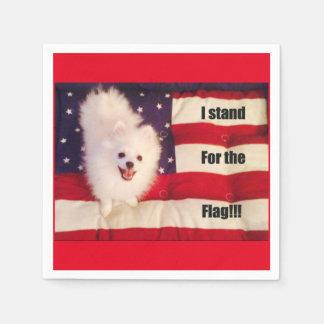 Eu represento os guardanapo da bandeira