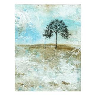 Eu resistirei a arte solitária da árvore da cartão postal