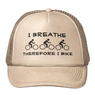 Eu respiro, conseqüentemente eu bike boné