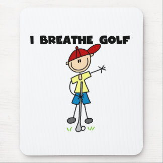 Eu respiro o golfe mouse pad