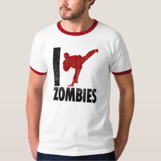 Eu retrocedo zombis camiseta