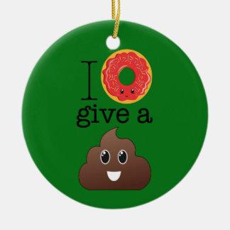 Eu rosquinha dou um ornamento de Emoji do verde do
