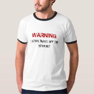 Eu roubo a música fora do tshirt do Internet