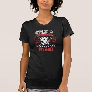 Eu salvar meu pitbull camiseta