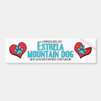 Eu salvei um cão da montanha de Estrela (o cão fêm Adesivo Para Carro