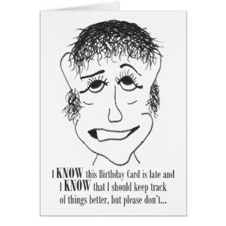 Eu sei este cartão de aniversário - cartão de