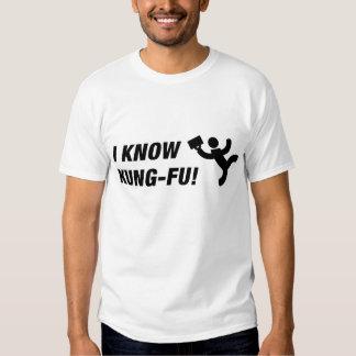 Eu sei o kung-fu! (lite) camiseta