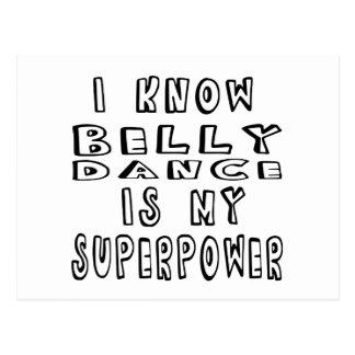 Eu sei que dança da dança do ventre é minha cartão postal