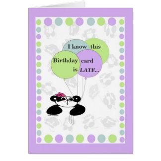Eu sei que este cartão de aniversário está