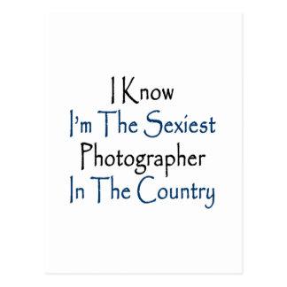 """Eu sei que eu sou o fotógrafo o mais """"sexy"""" no paí cartão postal"""