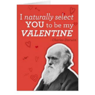 Eu seleciono-o naturalmente ser meus namorados cartão comemorativo