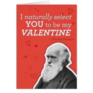 Eu seleciono-o naturalmente ser meus namorados - D Cartão Comemorativo