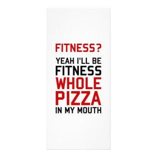 Eu serei pizza inteira de Fitnees em minha boca Planfetos Informativos Coloridos