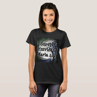 Eu sobrevivi à camisa de Maria do furacão