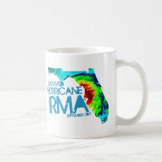 Eu sobrevivi à caneca de café de Irma do furacão