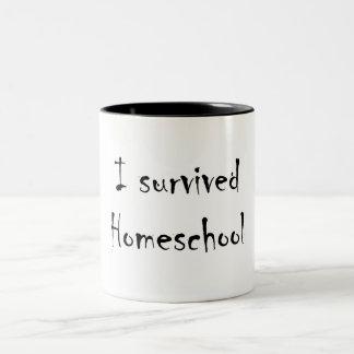 Eu sobrevivi à caneca de Homeschool