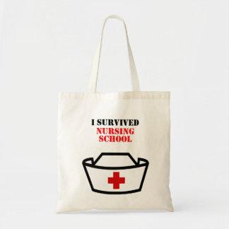 Eu sobrevivi à escola de cuidados bolsa tote