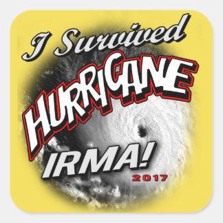 Eu sobrevivi à etiqueta de Irma do furacão