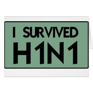 Eu sobrevivi a H1N1 Cartões