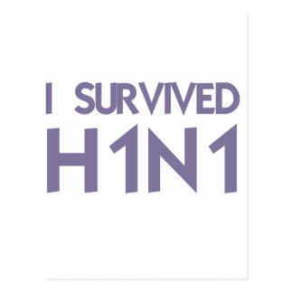 Eu sobrevivi a H1N1 Cartão Postal