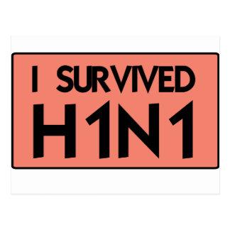 Eu sobrevivi a H1N1 Cartões Postais