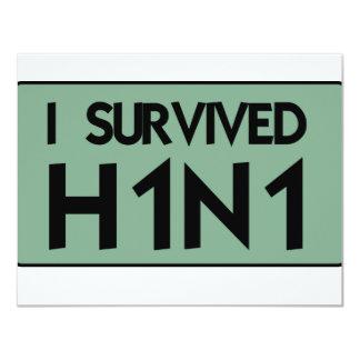 Eu sobrevivi a H1N1 Convites