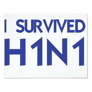 Eu sobrevivi a H1N1 Convite Personalizados