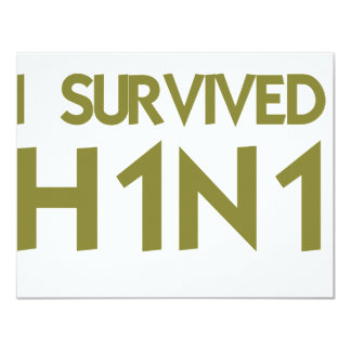 Eu sobrevivi a H1N1 Convites Personalizados
