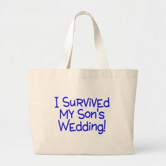 Eu sobrevivi a meus filhos que Wedding o azul Bolsas