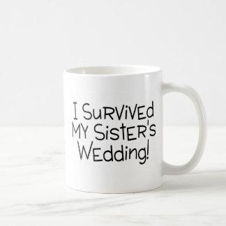 Eu sobrevivi a minhas irmãs que Wedding Canecas
