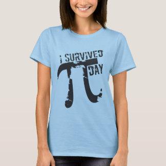 Eu sobrevivi ao dia do Pi - dia engraçado do Pi Camiseta