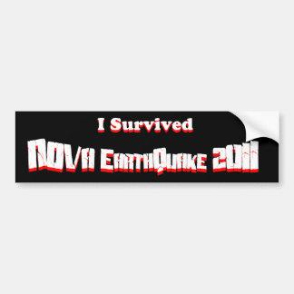 Eu sobrevivi ao terremoto 2011 da NOVA Adesivo Para Carro