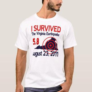 Eu sobrevivi ao terremoto de Virgínia Camiseta