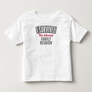 Eu sobrevivi - reunião de família - personalizo-a camiseta infantil