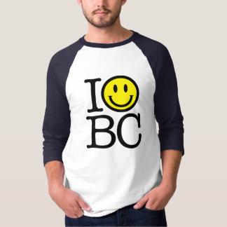 Eu sorrio BC camisa do basebol