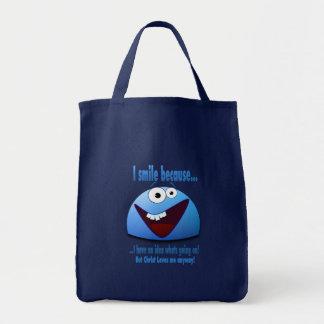 Eu sorrio porque… V2 Bolsas Para Compras