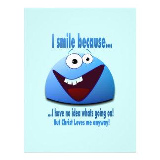 Eu sorrio porque… V2 Panfletos Personalizado