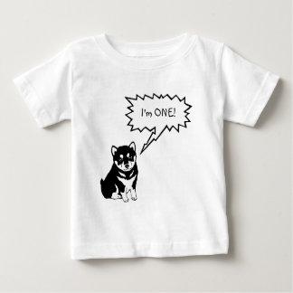 Eu sou 1 camisa do bebê da criança da bolha do