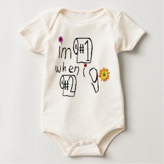 Eu sou #1 quando eu vou #2! body para bebê