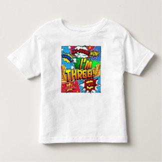 Eu sou a banda desenhada três camiseta infantil