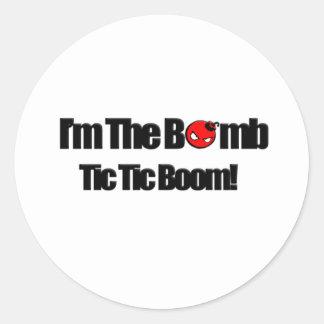 Eu sou a bomba adesivo em formato redondo