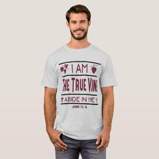 Eu sou a camisa dos homens cristãos da videira