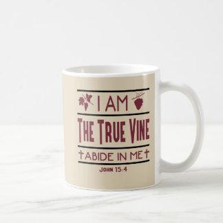 Eu sou a caneca de café cristã da videira