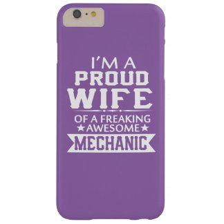 Eu sou a ESPOSA DE UM MECÂNICO ORGULHOSO Capas iPhone 6 Plus Barely There