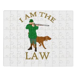 Eu sou a lei com um fazendeiro com uma arma