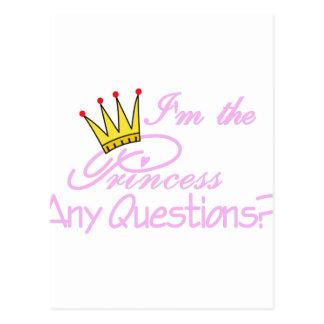 Eu sou a princesa cartão postal
