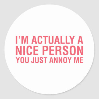 Eu sou agradável adesivo