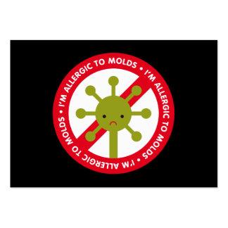 Eu sou alérgico aos moldes! marcador cartão de visita grande