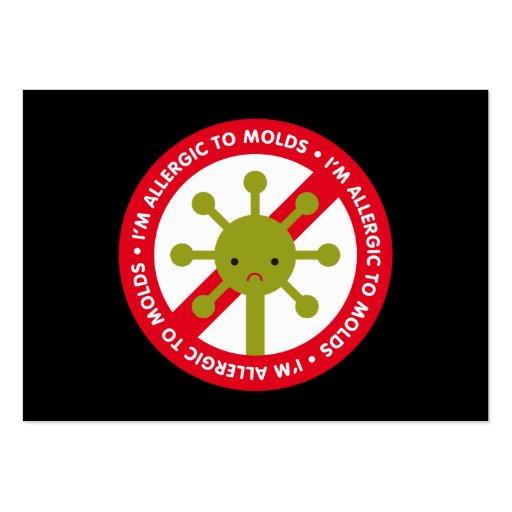 Eu sou alérgico aos moldes! marcador modelo cartao de visita