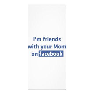 Eu sou amigos com sua mamã no facebook modelo de panfleto informativo